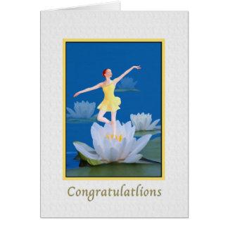 Enhorabuena, tarjeta de baile del Sprite de agua