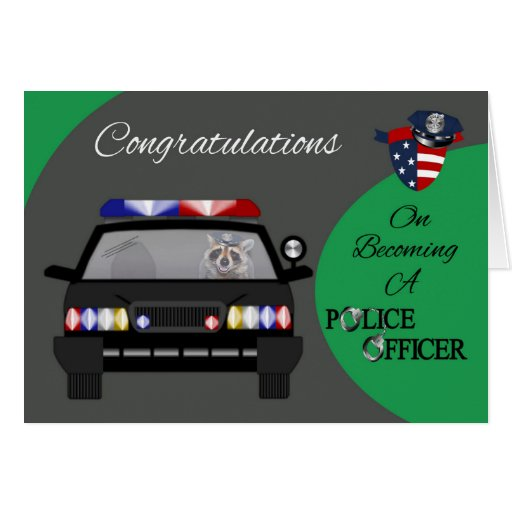 Enhorabuena, tarjeta de felicitación del oficial d