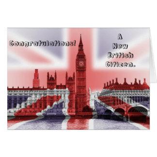 ¡Enhorabuena! Un nuevo ciudadano británico Tarjetón
