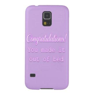 ¡Enhorabuena! Usted lo hizo fuera de cama Funda Galaxy S5