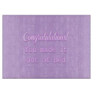 ¡Enhorabuena! Usted lo hizo fuera de cama Tablas Para Cortar