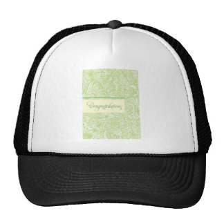 Enhorabuena verde de la alheña gorras