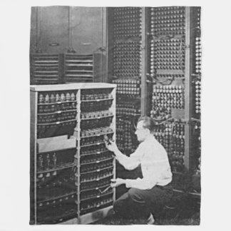 ENIAC (1st Computer) For The Geek That has it all Fleece Blanket