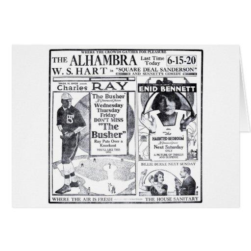 Enid Bennett 1919 vintage movie ad card