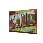Enid, letra ScenesEnid, AUTORIZACIÓN de OklahomaLa Lona Envuelta Para Galerias
