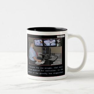 Enigma de la humanidad taza de café de dos colores