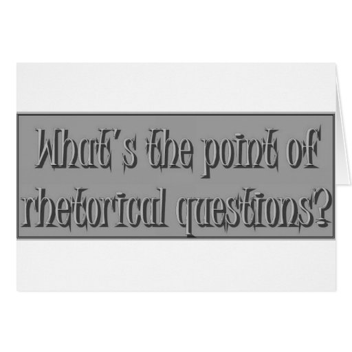 Enigma de la pregunta de Rhetirical Felicitación
