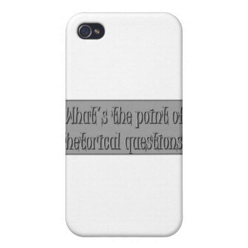 Enigma de la pregunta de Rhetirical iPhone 4 Cárcasa
