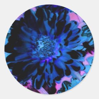 Enigma floral 1 etiqueta redonda
