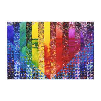 Enigma I - Diosa abstracta de la mujer del arco ir Lona Envuelta Para Galerias