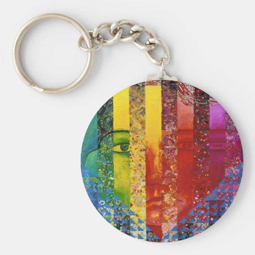 Enigma I - Diosa abstracta de la mujer del arco ir Llaveros Personalizados