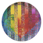 Enigma I - Diosa abstracta de la mujer del arco ir Plato Para Fiesta