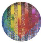 Enigma I - Diosa abstracta de la mujer del arco ir Platos