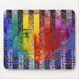 Enigma I - Diosa abstracta de la mujer del arco ir Tapete De Raton