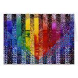 Enigma I - Diosa abstracta de la mujer del arco ir Felicitaciones