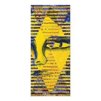 """Enigma II - Diosa de oro y del zafiro Invitación 4"""" X 9.25"""""""