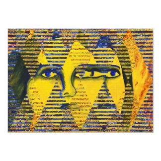 """Enigma II - Diosa de oro y del zafiro Invitación 5"""" X 7"""""""
