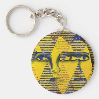 Enigma II - Diosa de oro y del zafiro Llavero Redondo Tipo Pin