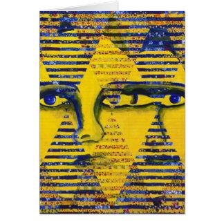 Enigma II - Diosa de oro y del zafiro Tarjeta De Felicitación