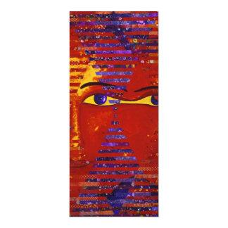 """Enigma III - Diosa púrpura y anaranjada abstracta Invitación 4"""" X 9.25"""""""
