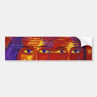 Enigma III - Diosa púrpura y anaranjada abstracta Pegatina Para Auto