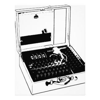 Enigma Machine Cryptography World War II Letterhead