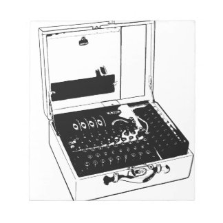 Enigma Machine Cryptography World War II Notepad