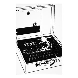 Enigma Machine Cryptography World War II Stationery