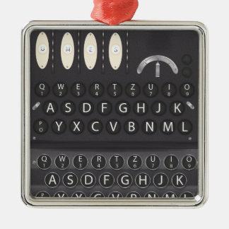 Enigma Machine Metal Ornament