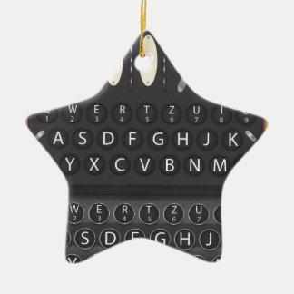 Enigma Machine Christmas Ornament
