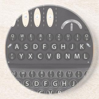 Enigma Machine Sandstone Coaster