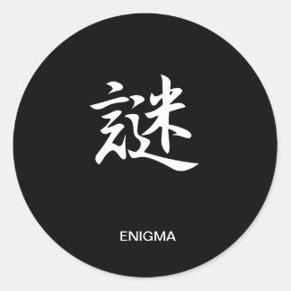 Enigma - Nazo Etiquetas Redondas