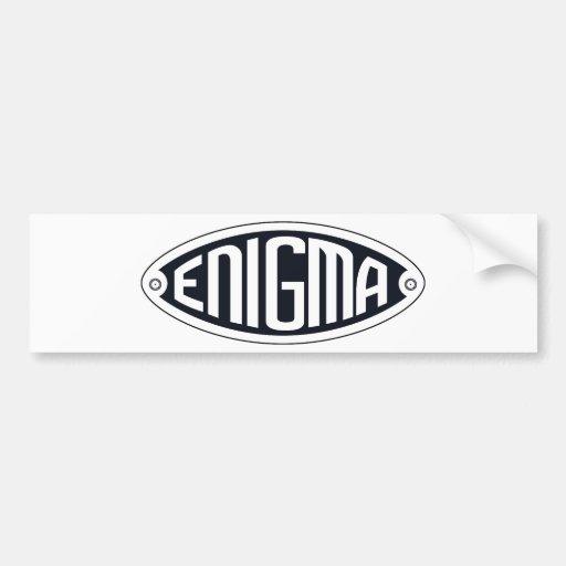 Enigma Pegatina Para Auto