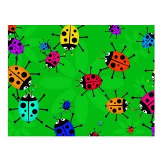 Enjambre del escarabajo tarjetas postales