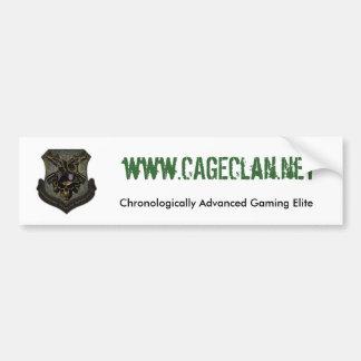 enjaule el zazzle del clan, www.CAGEClan.net, cron Pegatina De Parachoque