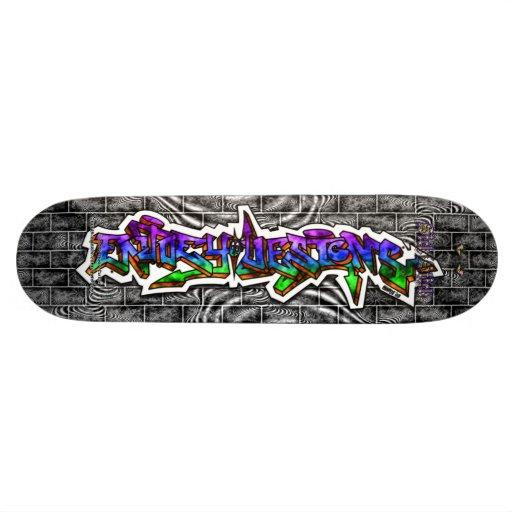 Enjoey diseña la cubierta salvaje del arte de la p tabla de skate