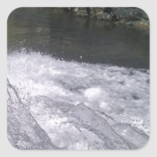 Enjoy a summer splash square sticker