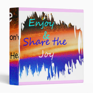 Enjoy and share the joy binder