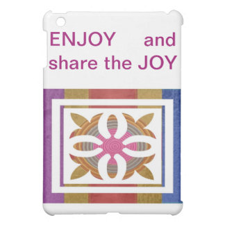 ENJOY and share the JOY - HAPPY Expressions iPad Mini Cases