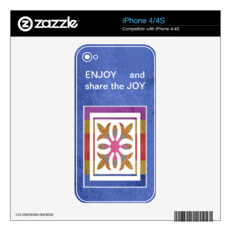 ENJOY and share the JOY -  HAPPY Expressions iPhone 4S Skins