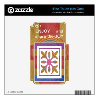 ENJOY and share the JOY -  HAPPY Expressions Decals For iPod Touch 4G