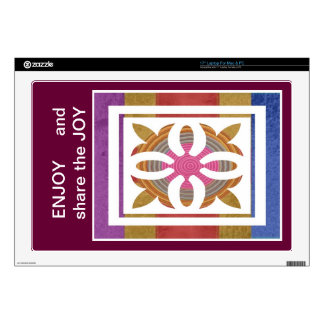 ENJOY and share the JOY -  HAPPY Expressions Laptop Decal