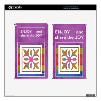 ENJOY and share the JOY -  HAPPY Expressions Skin For Kindle Fire