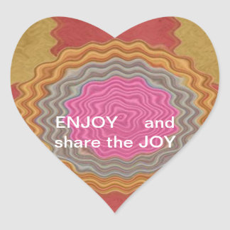 ENJOY and share the JOY -  HAPPY Expressions Heart Sticker