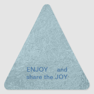 ENJOY and share the JOY -  HAPPY Expressions Triangle Sticker