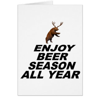 Enjoy Beer Season All Year Card