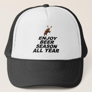 Enjoy Beer Season All Year Trucker Hat