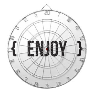 Enjoy - Bracketed - Black and White Dartboard