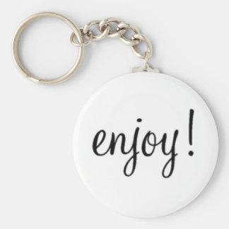 Enjoy! Button Keychain