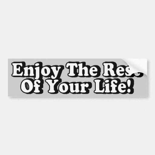 Enjoy Car Bumper Sticker
